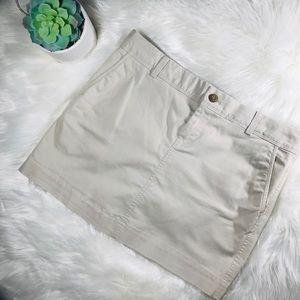 Old Navy Khaki Perfect Mini Skirt
